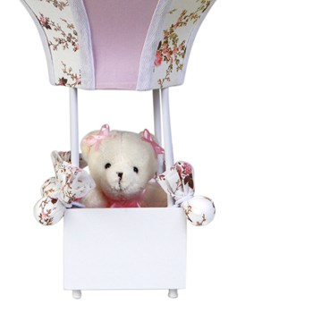 Abajur Balãozinho Acinturado Ursa Rosa