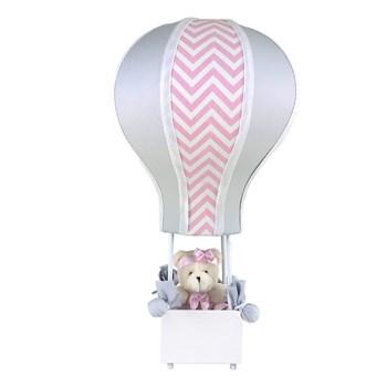 Abajur Balãozinho Cintura Ursa Chevron Rosa