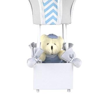 Abajur Balãozinho Cintura Urso Chevron Azul
