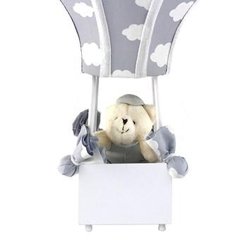 Abajur Balãozinho Cintura Urso Nuvem Cinza