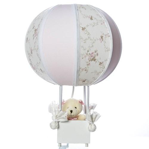 Abajur Balãozinho Ursa Rosa