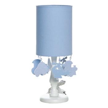 Abajur Cúpula Tubular Meios De Transporte Azul