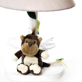 Abajur Madeira Floresta Macaco Cipó