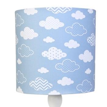 Abajur Madeira Nuvem Azul
