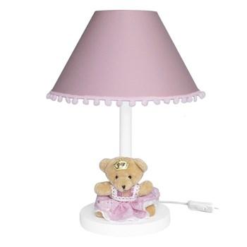 Abajur Madeira Ursa Princesa Rosê
