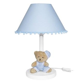 Abajur Madeira Urso de Boina Azul