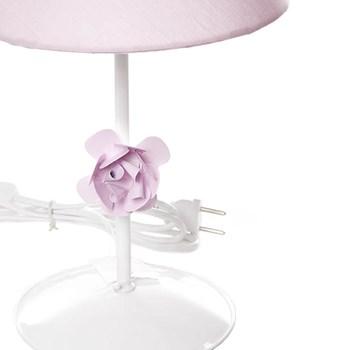 Abajur Metal Flor P Rosa