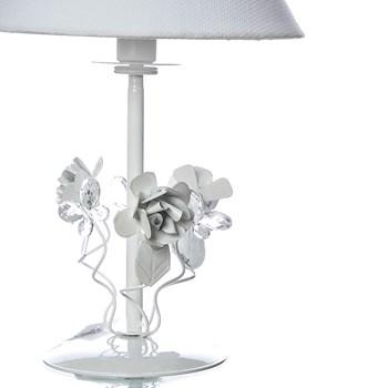 Abajur Metal Floral Branco