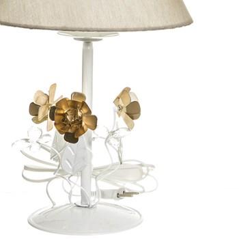 Abajur Metal Floral Flor Dourada