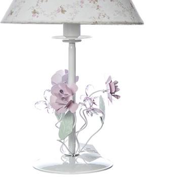 Abajur Metal Floral Rosa