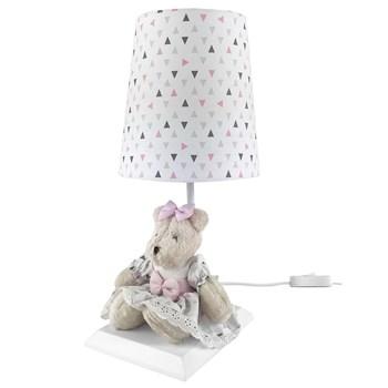 Abajur Toys Claro Ursa Rosa Moderno