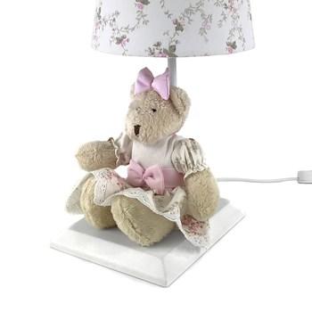 Abajur Toys Claro Ursa Rosa Provençal