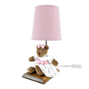 Abajur Toys Escuro Ursa Rosa