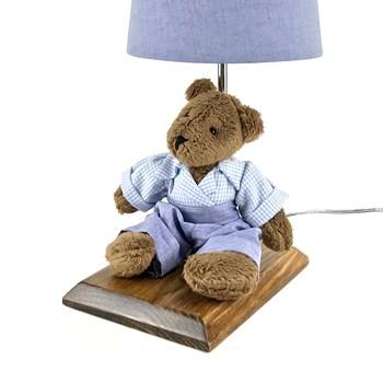Abajur Toys Escuro Urso Azul