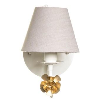 Arandela 1 Lâmpada Flor Dourada
