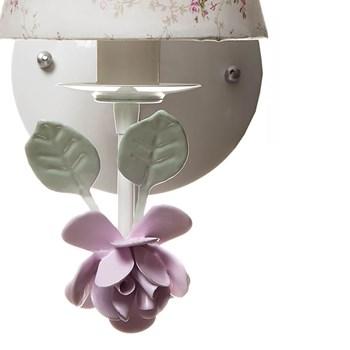 Arandela 1 Lâmpada Flor Grande Rosa