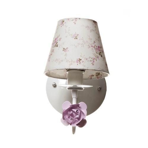 Arandela 1 Lâmpada Flor Rosa