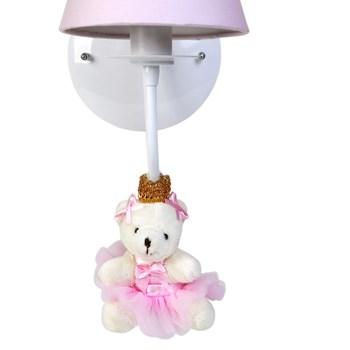 Arandela 1 Lâmpada Ursinha Princesa Rosa