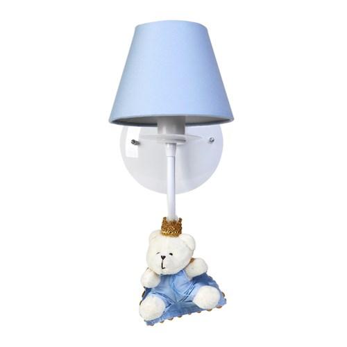 Arandela 1 Lâmpada Ursinho Príncipe Azul