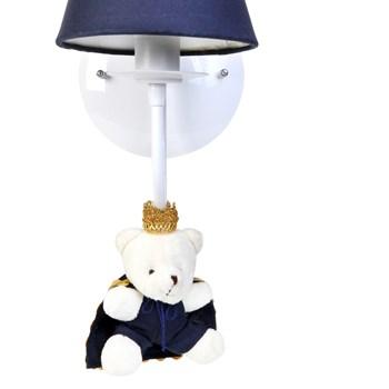 Arandela 1 Lâmpada Ursinho Príncipe Marinho