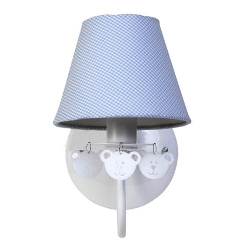 Arandela 1 Lâmpada Ursinhos Azul