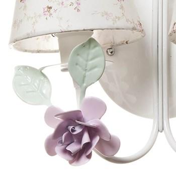 Arandela 2 Lâmpadas Flores Grandes Rosa