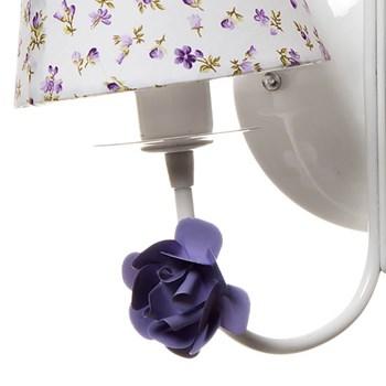 Arandela 2 Lâmpadas Flores Lilás