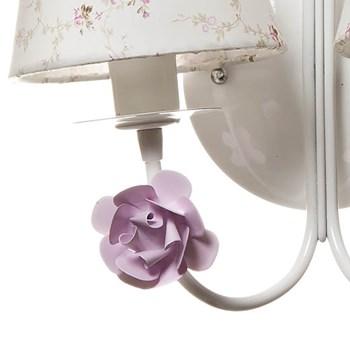 Arandela 2 Lâmpadas Flores Rosa
