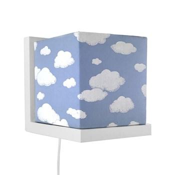 Arandela Branca Cubinho Azul