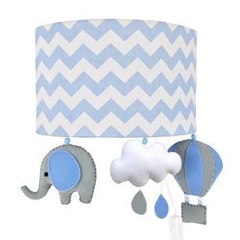 Arandela Meia Lua Elefante Balão Azul