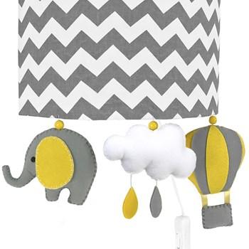Arandela Meia Lua Elefante Balão Cinza