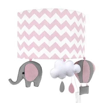 Arandela Meia Lua Elefante Balão Rosa