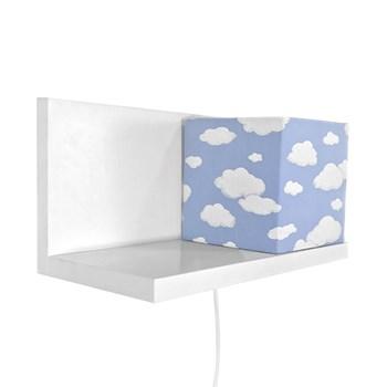 Arandela Prateleira Branca Cubinho Azul