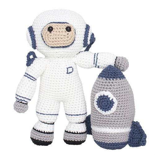 Astronauta e Foguete Amigurumi Crochê
