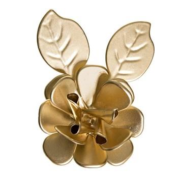 Flor Com Folhas Dourada