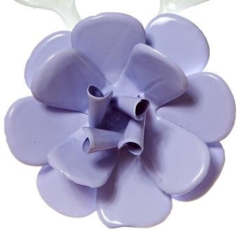 Flor Com Folhas Lilás