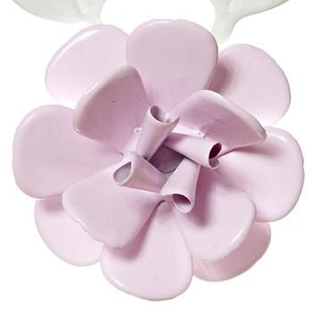 Flor Com Folhas Rosa