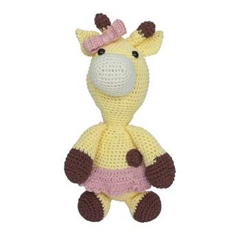 Girafa Beka de Laço Rosa Amigurumi Crochê