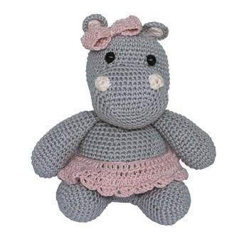 Hipopótamo Lola de Lacinho Rosa Amigurumi Crochê