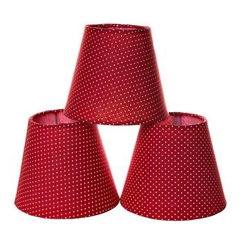 Jogo Cúpulas Para Lustre Vermelha (3 Unid.)