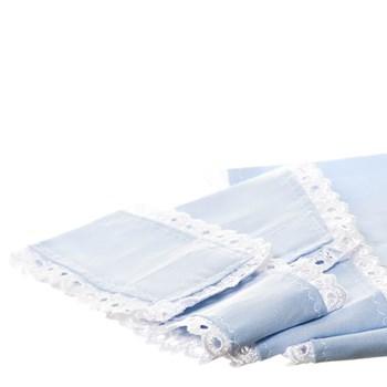 Jogo De Capas De Tecido Azul (Conj. 3 Peças)
