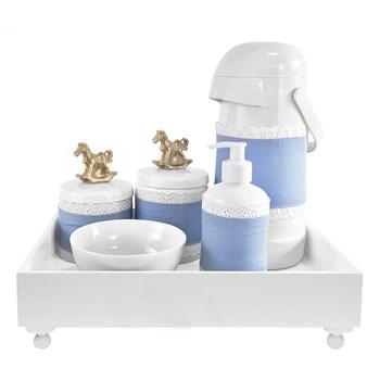 Kit Higiene Blanc Cavalinho Dourado e Capa