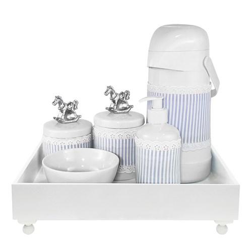Kit Higiene Blanc Cavalinho Prata e Capa