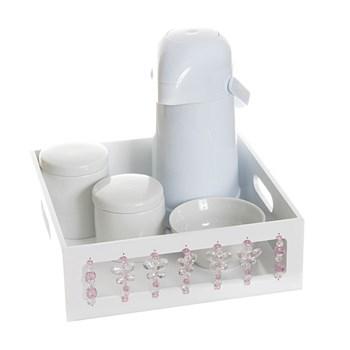 Kit Higiene Borboleta Rosa