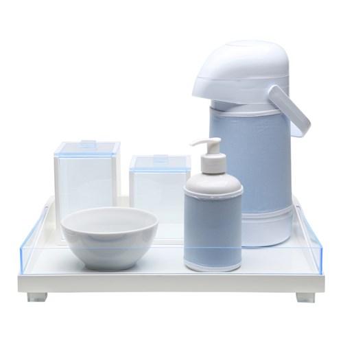 Kit Higiene Clean Acrílico Azul