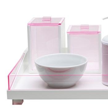 Kit Higiene Clean Acrílico Rosa