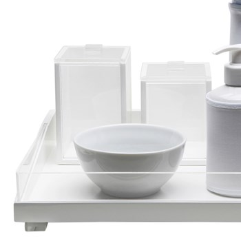Kit Higiene Clean Acrílico Transparente