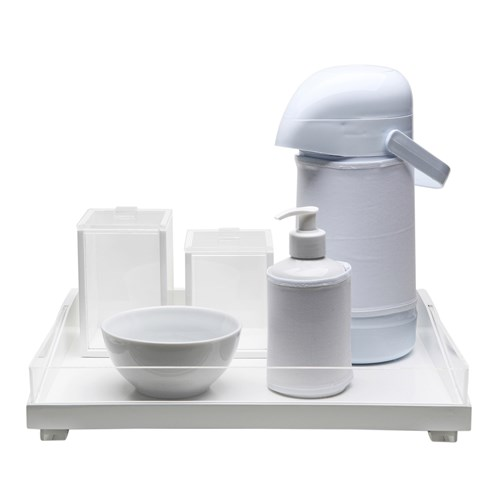 Kit Higiene Clean Acrílico Transparente