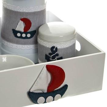 Kit Higiene Com Capa Bandeja Lisa Náutico