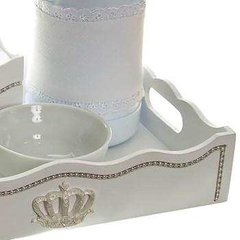 Kit Higiene Com Capa Fantasia Pérolas Brancas E Corôa